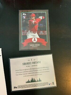 2018 Topps Advent ROOKIE CARD #1 Shohei Ohtani RC Los Angeles Angels /2163