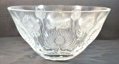 Vintage Lalique French Crystal Balmoral Thistle Bowl