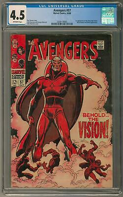 Avengers #57 CGC 4.5 (OW) 1st Silver Age Vision Appearance
