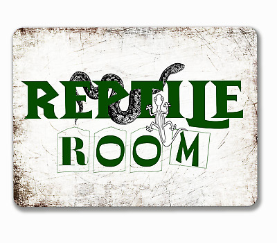 Reptile room sign door or wall hanging or fixed various aluminium 20 x 15