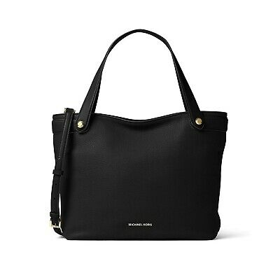 b9b324dc2cab NWT MICHAEL KORS Hyland Convertible Tote Shoulder Bag Purse Black  30T6GH5T2L NEW