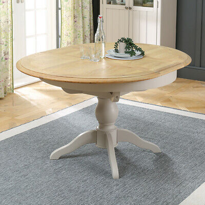 Chatsworth Grey Painted Round Extending Dining Table - 4 to 6 Seater - GTY21