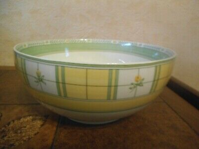 Marks & Spencer YELLOW ROSE Fine Porcelain 25 cm SERVING /  SALAD  BOWL  VGC