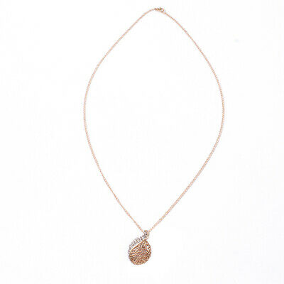 Lady Fresh Style Hollow Lover Acacia Leaf Buds Shaped Necklace Clavicle Chain S