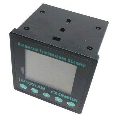 Omega DP1001AM Automatic Temp Scanner, 9VDC, 2 RS232 Interfaces, 5A Relay Output