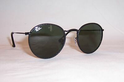 23fed7cae2 NEW RAYBAN SUNGLASSES 3475Q 3475 9040 ROUND CRAFT BLACK GREEN LEATHER 50mm