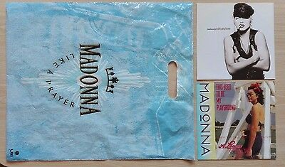 """MADONNA –""""Justify My Love""""+""""This Used To Be My Playground""""vinyl sg + plastic bag"""