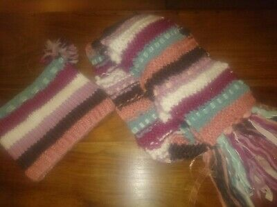 Monsoon Hat And Scarf, 3-6 Years,  Preloved. Gorgeous