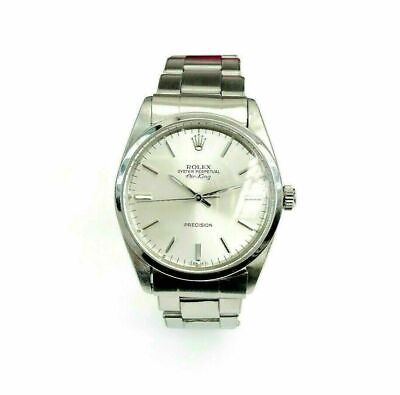 Rolex 34 MM AirKing Watch Stainless Steel Ref # 5501 Factory Dial 1960's