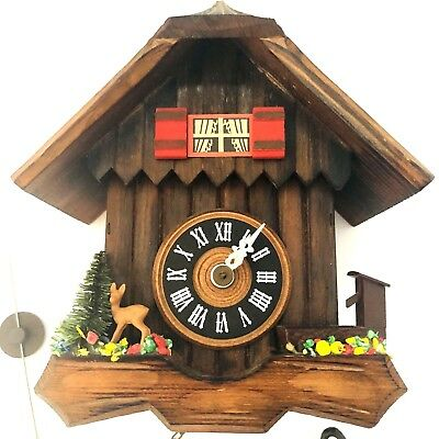 Vintage German Wood Clock Albert Schwab Karlsruhe For Parts Untested