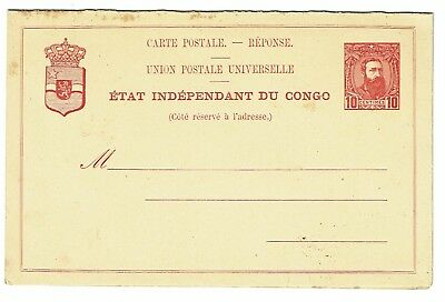 Belgian Congo Early Reply Card / Unused Entire - Z207