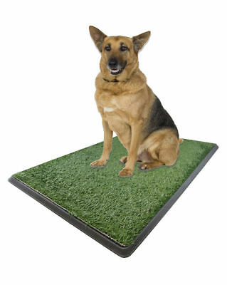 """Large Dog Turf Grass Potty Pad Bathroom Tray - Indoor Pet Grass Patch 25x20x2"""""""