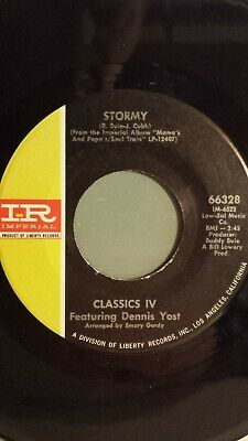 """CLASSICS IV 45 RPM - """"Stormy"""" & """"24 Hours of Loneliness""""  VG+ condition"""