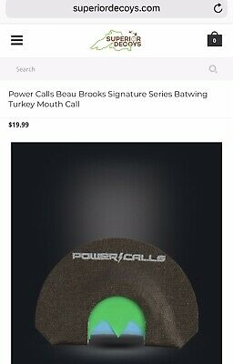 New Dead End Game Calls Jeff Sipe Signature Series Mouth Call Turkey RC003