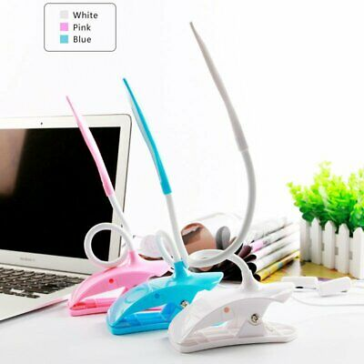 Dimmable Flexible USB Clip-On Desk 14 LED Table Reading Book Lamp Desk Light