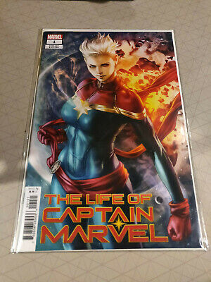 LIFE OF CAPTAIN MARVEL #1 Cover B Stanley Artgerm Lau Variant MARVEL