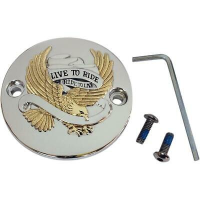 Drag Specialties 0940-1646 Live to Ride Points Cover - Gold