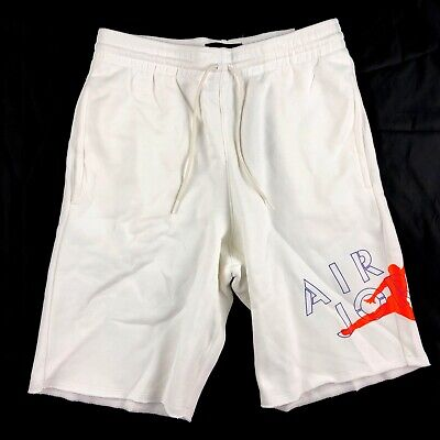 4575a63e1f967d Nike Air Jordan 5 Jumpman Fleece Shorts White Orange Blue AR7958-100 Men s  S-