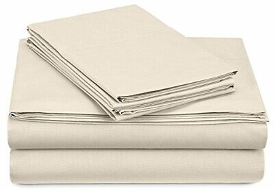 300Thread Count Percale Sheet Set - King, Ivory Bed Sheets