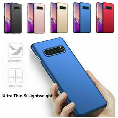 For Samsung S10 S9 S8 Plus Shockproof Hard PC Case Cover with Screen Protector