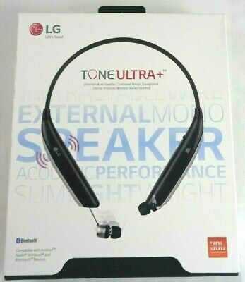 LG TONE ULTRA+ HBS-820S Wireless In-Ear Behind-the-Neck Headphones - Black