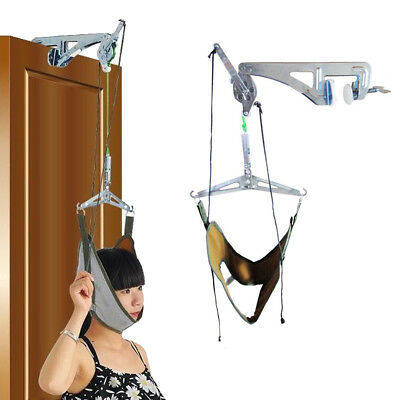 Over Door Cervical Traction Kit Neck Back Stretcher Pain Relief Head Health