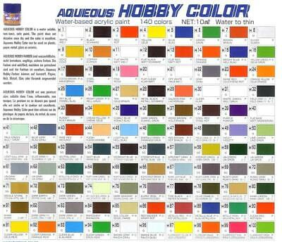 Mr. Hobby Aqueous Color H1-H467 Hobby Acrylic Gunze GSI Model Kit Paint 10ml New
