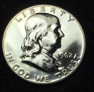 1962 50C (Proof) Franklin Half Dollar 90% Silver Exact Coin is Shown Free S/H