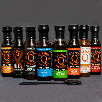 Kosmos Q's Ultimate BBQ Sauce 6 Pack with free Basting Brush