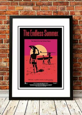 ENDLESS SUMMER - Classic Retro Surf Movie Poster 1966