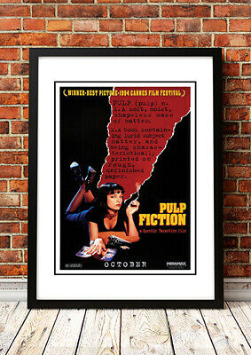 Pulp Fiction - Retro Neo-Noir Crime Black Comedy Cult Movie Poster from 1994