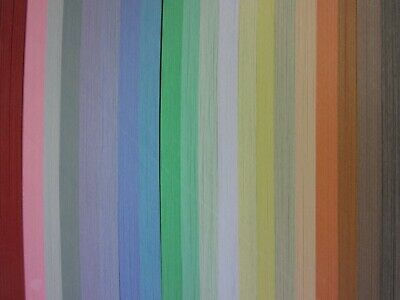 QUILLING PAPER 110gsm 3mm 500 Strips - 20 PASTEL COLOURS