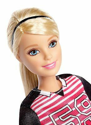 Barbie Blonde Soccer Player Made to Move Figure Fashion Playset Girl Gift Blond