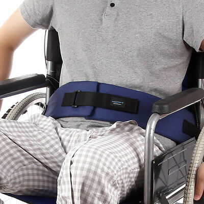 Wheelchair Seat Belt Cushion Harness Straps Safety Adjustable Front Latch Buckle