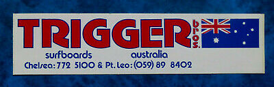 TRIGGER BROS Surfboards .. Original Vintage  1980,s  SURFING sticker