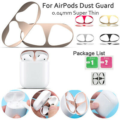 For Airpods Dust Guard Iron Powder Prevention Sticker Metal Plate Easy Install