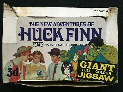 A&BC 1969 Huck Finn 3d Wax Wrapper Packet Gum Card Shop Counter Display Box