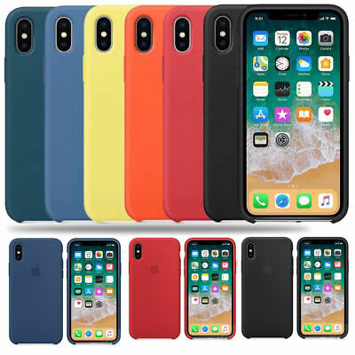 Original carcasas Silicona Genuina Funda para Apple iPhone X XS 8 7 6S 6 Plus