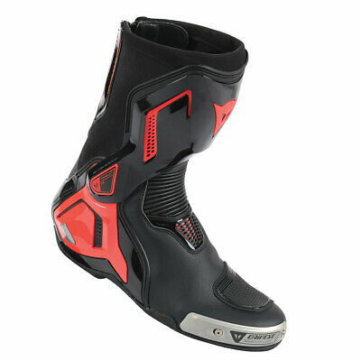CHEAP Dainese Torque D1 Out Boots Black / Fluo Red - 45 EX DISPLAY