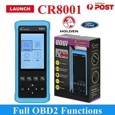Launch X431 CR8001 Diagnostic Scan Engine Tool OBD2 EOBD Toyota Ford Holden