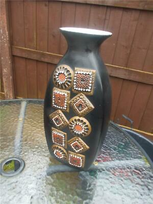Brentleigh Ware Large Vase So Retro Black And Bronze