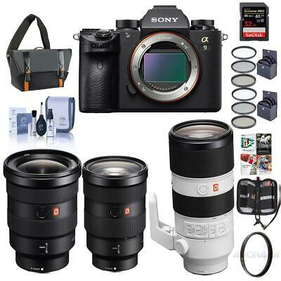 Sony Alpha a9 Mirrorless Camera W/FE 24-70mm/FE 16-35mm/FE 70-200mm Lens/Acc Kit