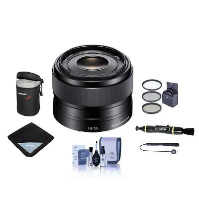 Sony 35mm F/1.8 OSS E-mount NEX Camera Lens. #SEL35F18  Value Kit with Acc