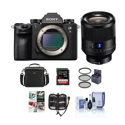 Sony Alpha a9 Mirrorless Camera, Planar T* FE 50mm F1.4 ZA Lens W/Accessry Kit