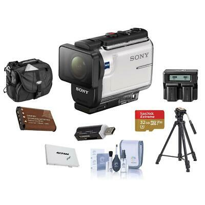 Sony HDR-AS300 Action Camera Balanced Optical SteadyShot With Premium ACC Bundle