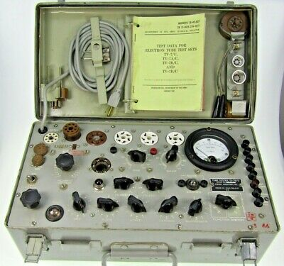TV-7B/U TV-7 Military Tube Tester Röhrenprüfgerät Lampemetre Forway Industries