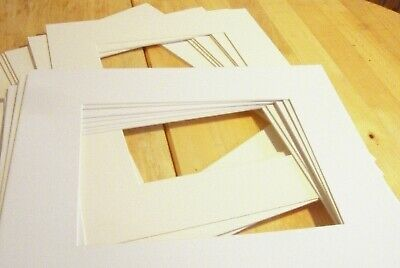 10 x 12 photo mounts, 8 x6 aperture, white and ivory