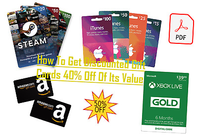 How To Get Discounted Gift Cards 40% Off Of Its Value Amazon iTunes Netflix ....