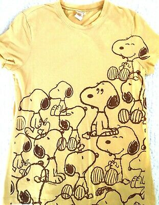 985e8ad8 Peanuts Womens Size XL T-Shirt Snoopy and Woodstock Love Friendship Retro  Yellow