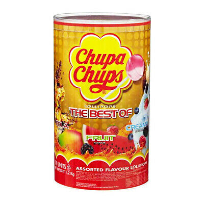Chupa Chups Tin 100 Lollipops Lollies Candies Candy Sweets Gift Party Bag Filler